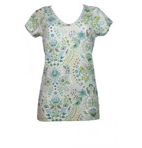 T-Shirt mit Sommermotiv von PipStudio mit V-Ausschnitt