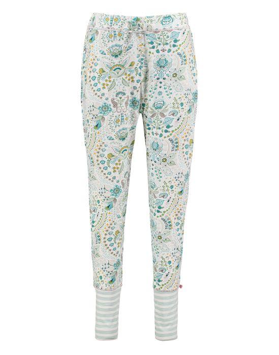 Pyjama-Hose lang mit Sommermotiv, Hinteransicht