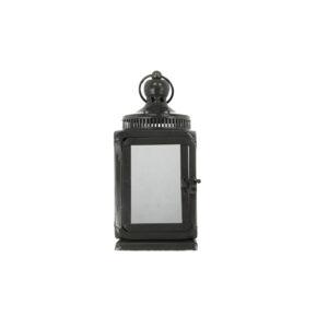 Laterne Stahlblech mit Glas, grau