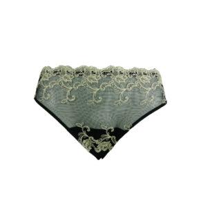 Tüll-Slip mit Stickerei