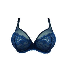 blauer Bügel-BH Triangel-Form