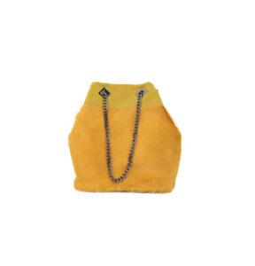 Echtleder-Handtasche/Beutel, Kuhfell gefärbt