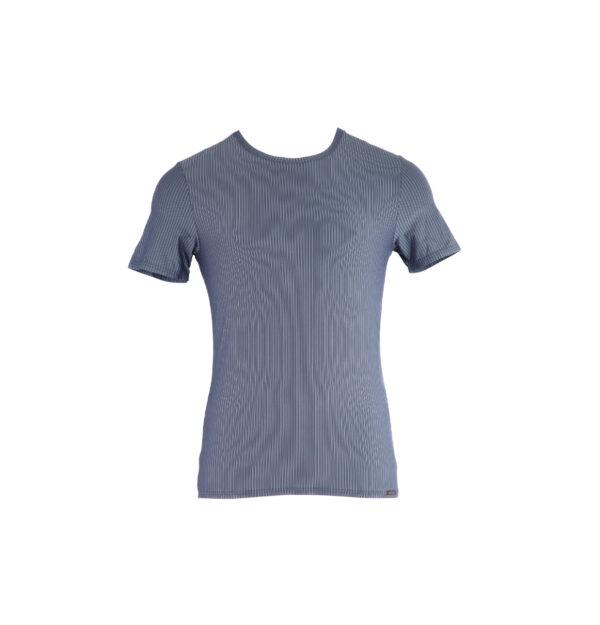 klassisches Männer-T-Shirt/Unterhemd, graublau