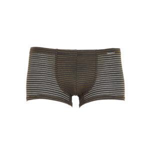 Männerunterhose in Streifen-Look transparent