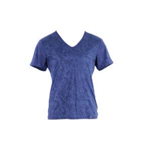 blaues Herren-T-Shirt, kurzarm